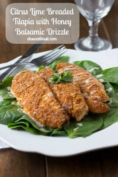 Citrus Lime breaded Tilapia #healthy #recipe #seafood ohsweetbasil.com-