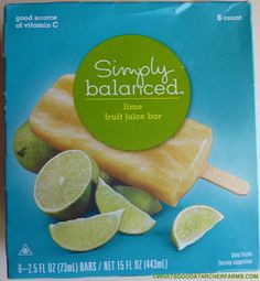 What's Good at Archer Farms?: Simply Balanced Lime Fruit Juice Bars