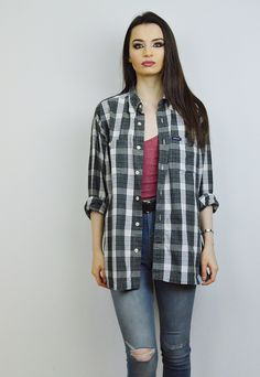 90's Vintage Tommy Hilfiger Checked Shirt R6B004 | Millie and Me | ASOS Marketplace