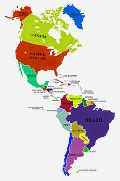 Particular Mapa America Completo Paises Y Capitales De America Mapa Politico De America Del Central Outline Of North And South America Mapa Del Continente De America America Continent, Map America, Indian River Map, North And South, I Love School, America Memes, 7 Continents, Country Maps, History Teachers