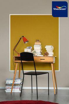 Βρείτε έμπνευση για το γραφείο και για κάθε χώρο του σπιτιού στο site της #vivechrom. Αποχρώσεις: 54YY 46/065 34YY 31/502 Home Office, Office Desk, Decoration, Colors, Furniture, Home Decor, Decor, Desk Office, Decoration Home