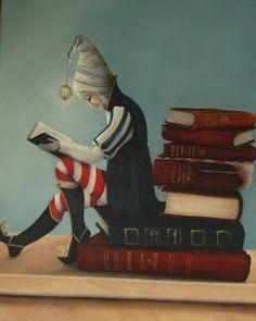 Super Bookworm Girl: The Book Lover Art