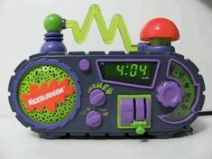 Vintage Nickelodeon Time Blaster Alarm Clock Radio Very nice shape! Tested and works! Please check out my store for other vintage toys and games. Radio Alarm Clock, Digital Alarm Clock, 90s Childhood, Childhood Memories, Willy Wonka Factory, Cory And Topanga, Best Alarm, Neon Aesthetic, Mechanical Pencils