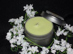 Juicy Pear 4oz travel tin candle by IndulgenceByMJ on Etsy, $5.00