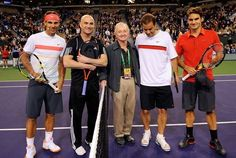 just Nadal, Agassi, Laver, Sampras and Federer... totally lost track of how many Grand Slams are there!