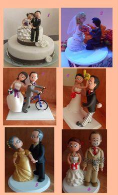 Novios, Figuras Pastel De Boda, Cake Toppers Personalizados - $ 390.00