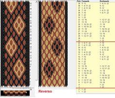22 tarjetas, 3 colores, repite cada 20 movimientos // sed_423bis diseñado en GTT༺❁