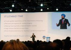 "Satjiv Chahil's prediction at #StarkeyExpo last year was spot on! #EarHealth, Muse, Halo 2, SoundLens Synergy, TruLink 4.0 and more! ""It's #Starkey time!"" #technology #innovation #hearing #health #hearables"