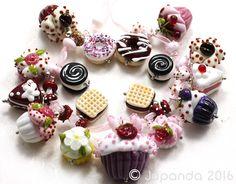 Jopanda Lampwork Beads Handmade SRA Cake Shop incl Donuts Cupkake Cockies   eBay sold for $256