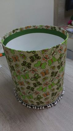 Drum Shade, Barrel, Decoupage, Planter Pots, Crafts, Diy, Painting, Home Decor, Tissue Paper