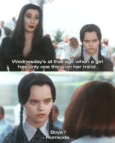 love this movie!   'why are you dressed like that?  'like what?' 'like somebody died' 'wait.'