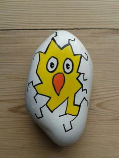 Cracked Egg... Painted Rock Ideas