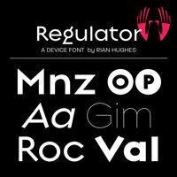 Regulator font