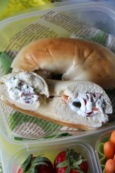 Stuffed Bagel Sandwiches - Step 3