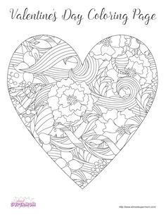 FREE Valentine's Day Coloring Pages for Grown Ups