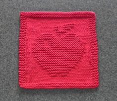 Red APPLE Knit Dishcloth 100 Cotton . Hand by AuntSusansCloset, $6.50