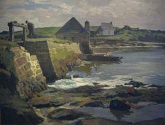 Moulin à marée, huile sur toile, 81 x 100 cm. Le Moulin, Master Art, Anglesey, Henri, Arches, Brittany, Landscapes, Painting, Image