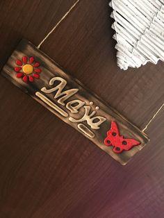 Wood name carving