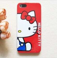 Hello Kitty iPhone 5 Case Shell Classic Red Hearts Cute: Amazon.co.uk: Electronics