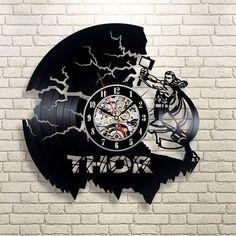 Thor Ragnarok Art Birthday Gift For Man Marvel Comics Art Lp Vinyl Retro Record Wall Clock Large Handmade Art Thor Clock Wall Clock Vintage by DenArtCrafts on Etsy Vinyl Record Clock, Record Art, Vinyl Records, Clock Wall, Clock Decor, Lp Vinyl, Marvel Comics, Marvel Art, Thor