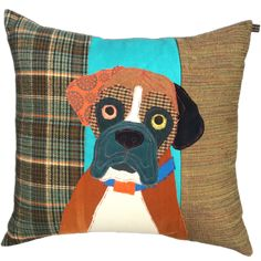Boxer Cushion by Carola van Dyke