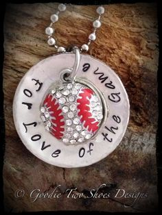 Baseball Necklace Baseball Mom Baseball Jewelry by mygoodie2shoes