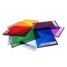 Colored Plexiglass sign colors transparent plastic samples