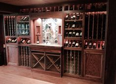 Would love to have a basement large enough for a wine bar/cabinet like this.