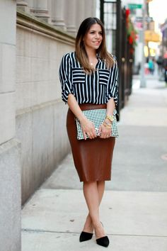 Corporate Catwalk by Olivia | Fashion Blogger in the Corporate World : How to Wear a Leather Skirt