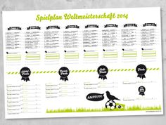 free printable: Fußball WM 2014 Spielplan