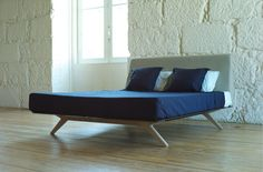 New Simple Modern Design Wooden Bed Models, MDF bed board with black matt painting, Elegant leg, Straight Soft Fabric Headboard, View Wooden bed Models, HALSONS Product Details from Foshan Shunde District Sangzi Import & Export Co., Ltd. on Alibaba.com