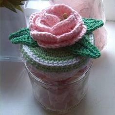 Atelier 'De Kleine Haven' Gehaakte Roos/Crochet Rose free pattern