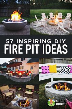 57 Inspiring DIY Fire Pit Plans and Ideas to Build this Fall ❤️ Please visit me at → https://www.pinterest.com/imjollyollie/