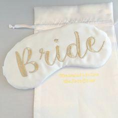Modern Bride Sleep Mask Bridal Shower Gift White and Silver Eye Mask Lingerie…