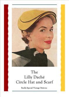 Vintage Hat Lilly Dache Circle Hat Vintage Sewing Pattern pdf 1950's. $5.00, via Etsy.
