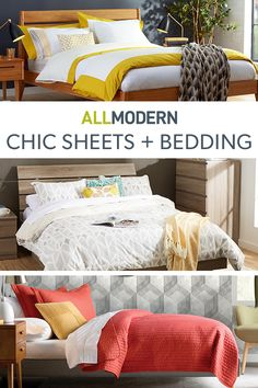 Looking for the perfect modern bed sheets or a unique duvet cover design? Sign up for contemporary pieces by top designers that will instantly brighten up any bedroom aesthetic. Visit AllModern today to explore our selection and sign up for exclusive access to deals for your modern home. Free shipping on orders over $49!