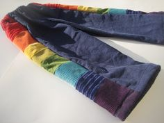 Pants for Boys or Girls...baby  toddler... rainbow corduroy... 6 months, 12 months, 18 months, 2T, 3T, 4T. $35.00, via Etsy.