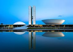 Architecture in Brasilia by late Brazilian architect Oscar Niemeyer is captured in these night shots by architectural photographer Andrew Prokos.