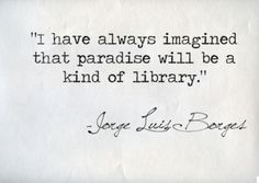 I love books....bring on the library paradise!