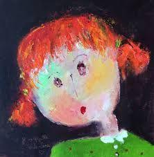 """Résultat de recherche d'images pour """"CHRISTINE BARRES"""" Girl Cartoon, Funny Faces, Face Art, Figurative Art, Illustrations, Art For Kids, Cute Pictures, Eye Candy, Canvas"""