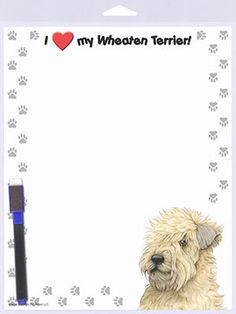 Soft Coated Wheaten Terrier Breed of Dog Themed Pen with Pen Case Perfect Gift