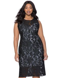 6b5be0fa22c Studio Floral Overlay Dress from eloquii.com Trendy Plus Size Fashion