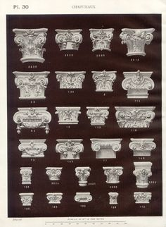 photo Architecture Antique, Architecture Concept Drawings, Classic Architecture, Historical Architecture, Architecture Details, Interior Architecture, Interior And Exterior, Gypsum Decoration, Column Design