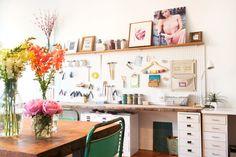 Leah Alexandra's Stunning Work Studio In Vancouver : photo by Kelly Brown www.kellybrownphotographer.com