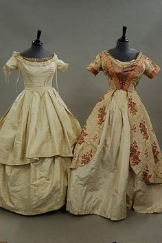 Lot: A group of garments, comprising c, Lot Number: Starting Bid: Auctioneer: Kerry Taylor Auctions, Auction: Fashion & Textiles , Date: June 2008 CDT Victorian Vampire, Victorian Gown, Edwardian Dress, Victorian Fashion, Vintage Gowns, Vintage Clothing, Vintage Outfits, Historical Costume, Historical Clothing