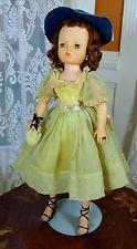 "Vintage 1950's 20"" Madame Alexander Cissy Doll Original in Celery Green Dress"