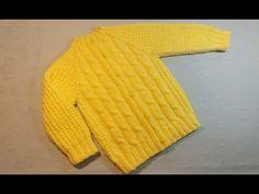 Вязание спицами детская кофточка #221 - YouTube