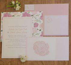 Floral invitation suite.