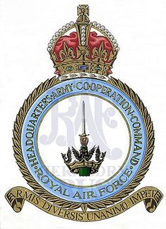 Army Co-operation Command. Air Force Aircraft, Battle Of Britain, Royal Air Force, Crests, Military History, Badges, Planes, Respect, Ornament