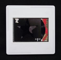 David Bowie, a music legend, features on a set of Royal Mail special stamps issued in 2017. This £1.52 stamp design shows his last album cover 'Blackstar' released in 2016. The unused stamp is encased in a vintage slide mount, with glass, making this a unique piece of jewellery. Yuzen paper is used to highlight the vinyl breakout detail. Bowie Blackstar, True Colors, Colours, Presentation Cards, Royal Mail, Design Show, David Bowie, Postage Stamps, Album Covers
